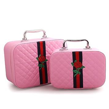 GAIHU Caja de almacenamiento Cosméticos Cosméticos Cosméticos bolsa exterior [viajes] moda baño organizador de maquillaje maquillaje ...