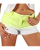 Tlv Styles Women's Neon Highlighter Ombre Short Shorts
