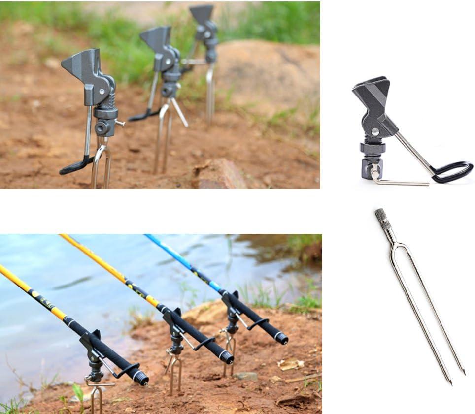 NEW * ENERGO Bank Stick Tele Rod Holder Ground Spike erdspeer Keepnet Rod