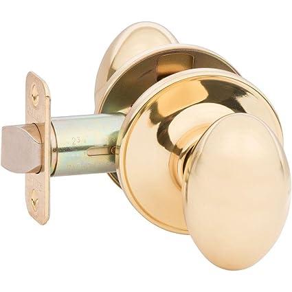 Ordinaire KE10 Callan Camden Door Knob Lockset Bright Brass, Passage