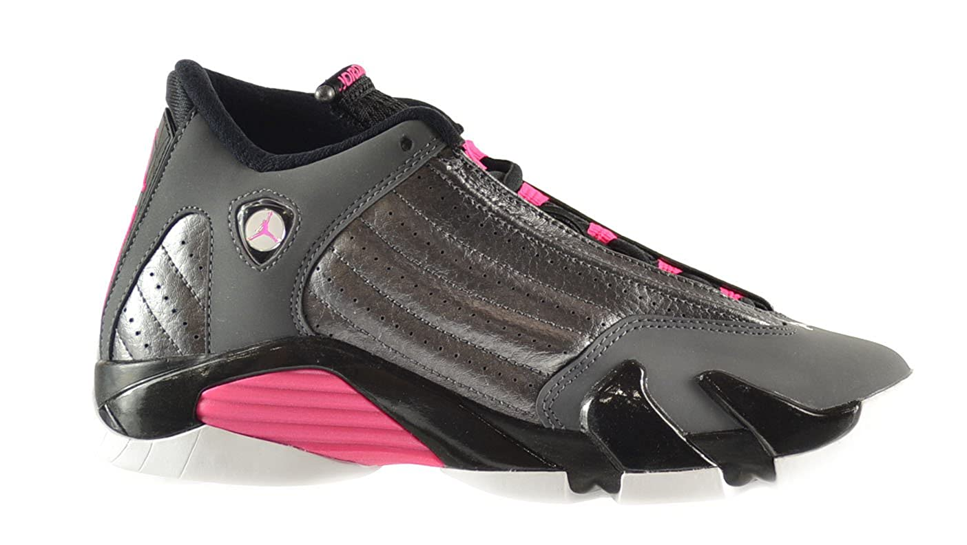 62beb1efffc431 Amazon.com  Air Jordan 14 Retro GG Big Kids Shoes Metallic Dark Grey Hyper  Pink-Black-White 654969-028 (4.5 M US)  Shoes