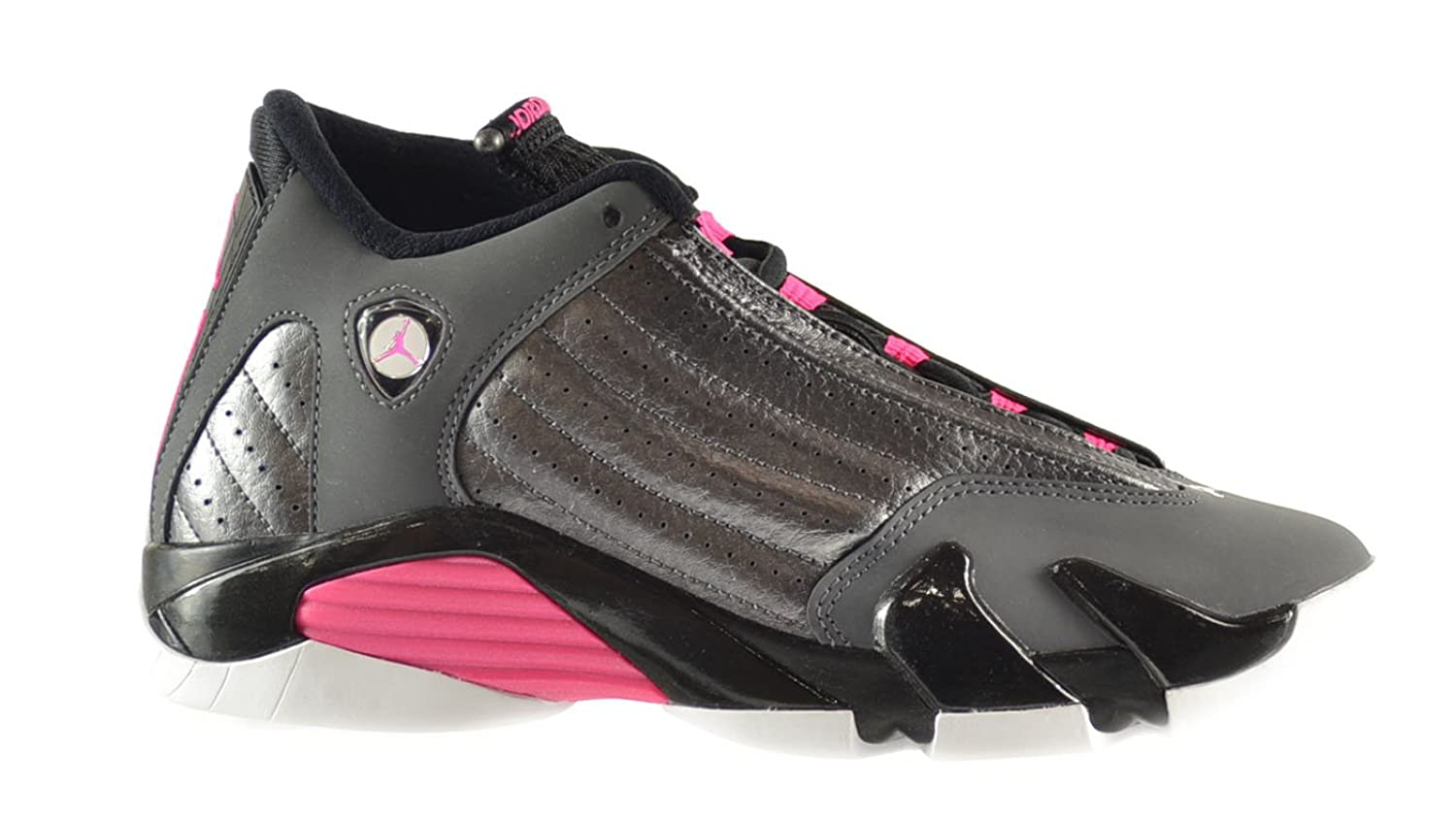 Amazon.com: Air Jordan 14 Retro GG Big Kids Shoes Metallic Dark Grey/Hyper  Pink-Black-White 654969-028: Shoes