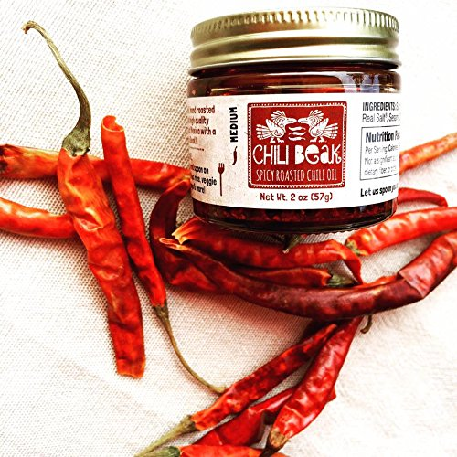 Spicy Chili Crisp Hot Chili Oil Sauce with Chili Flakes for Pizza and Ramen (Original, 2 oz) -