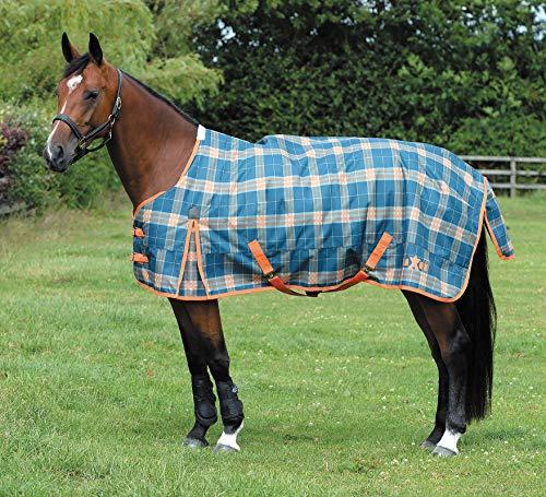 (Jeffers Exclusive Saxon 1200D Standard Neck Horse Turnout Blanket, 180g)