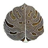 Handcarved Leaves Printing Block Wooden Textile Decorative Stamp Blockprint