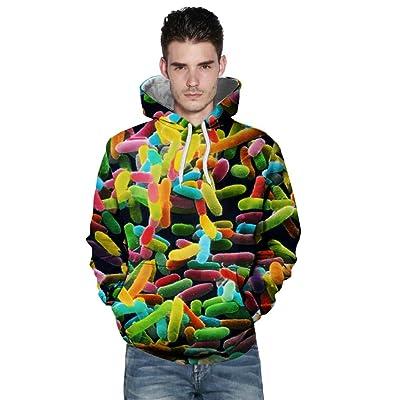 TIREOW Herren Damen Beiläufig Herbst Winter 3D Druck Langärmliges Liebhaber Hoodies Sweatshirt