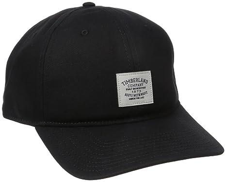 96dd7492ec1 Timberland Men s Cotton Twill Baseball Cap Woven Patch