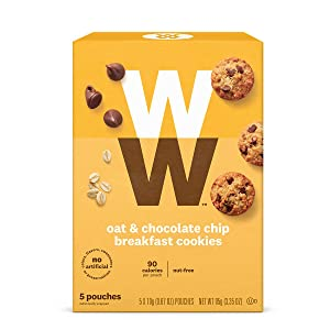WW Oat & Chocolate Chip Breakfast Cookies - 3 SmartPoints, Nut Free - 1 Box (5 Count Total) - Weight Watchers Reimagined
