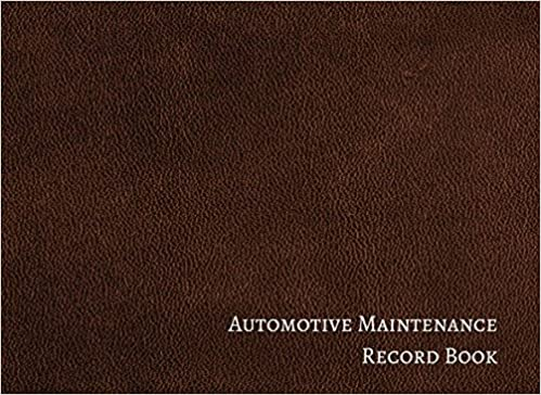 automotive maintenance record book vehicle maintenance log