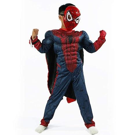 JUFENG Niños Traje De Spiderman Fiesta De Navidad De ...