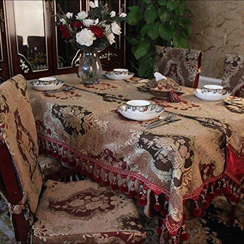 Tischdecke europäisches Art-Tabellen-Tuch Art-Tabellen-Tuch Art-Tabellen-Tuch runder Tabellen-Stoff-Kaffeetisch-Tuch ( Farbe    2 , größe   130180cm ) 9b6806