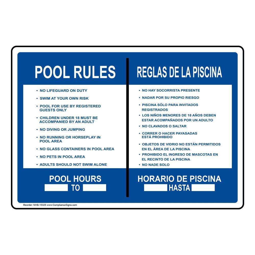 ComplianceSigns - Señal de piscina de plástico para spa, 35 ...