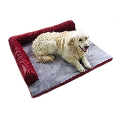 CHENYAJUAN Sofá Cama Perro Gato Invierno Durmiendo Cama Desmontable para Lavar Camas para Perros,S