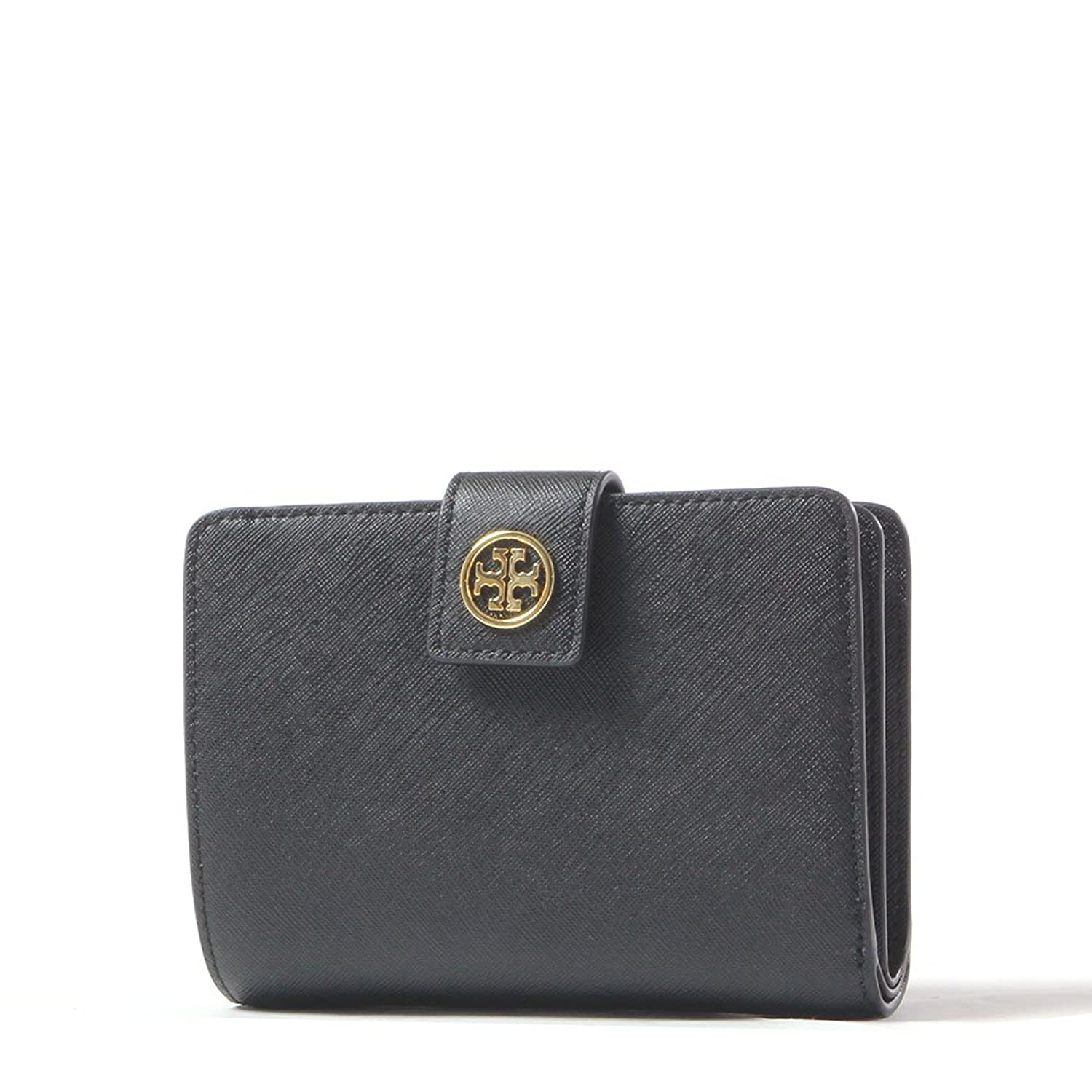 Tory Burch Bryant Leather Foldable Card Case (French Gray) at ...