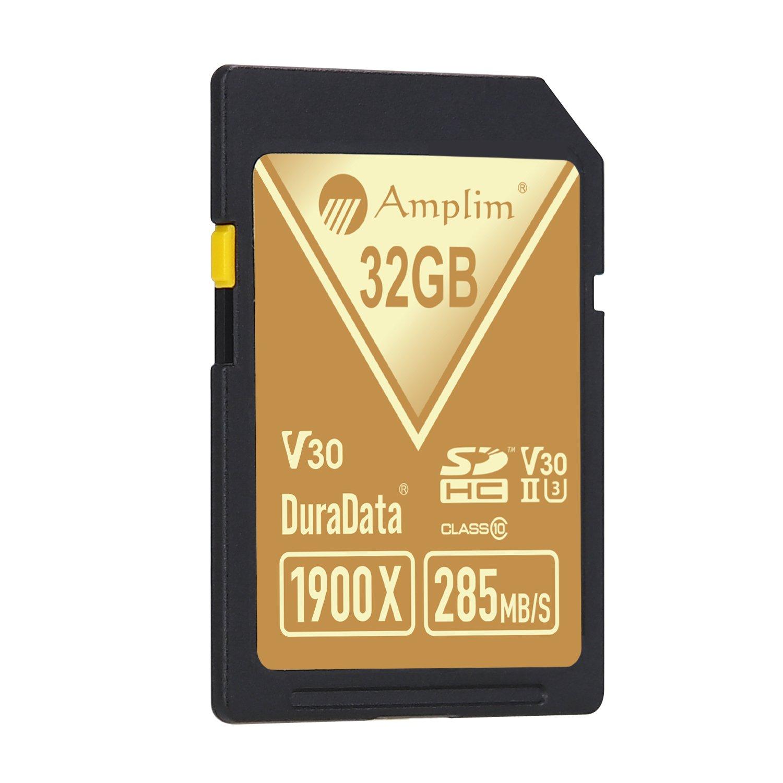 Amplim 32GB UHS-II SDHC SD Card Blazing Fast Read 285MB/S (1900X) Class 10 U3 Ultra High Speed V30 UHSII Extreme Pro SD HC Memory Card. Professional 4K Full HD Video Shooting 32 GB/32G TF Flash. New by Amplim (Image #7)