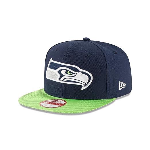 New Era Seattle Seahawks Navy On-Field Sideline 9FIFTY Snapback Adjustable  Hat Cap 65b9572360b7