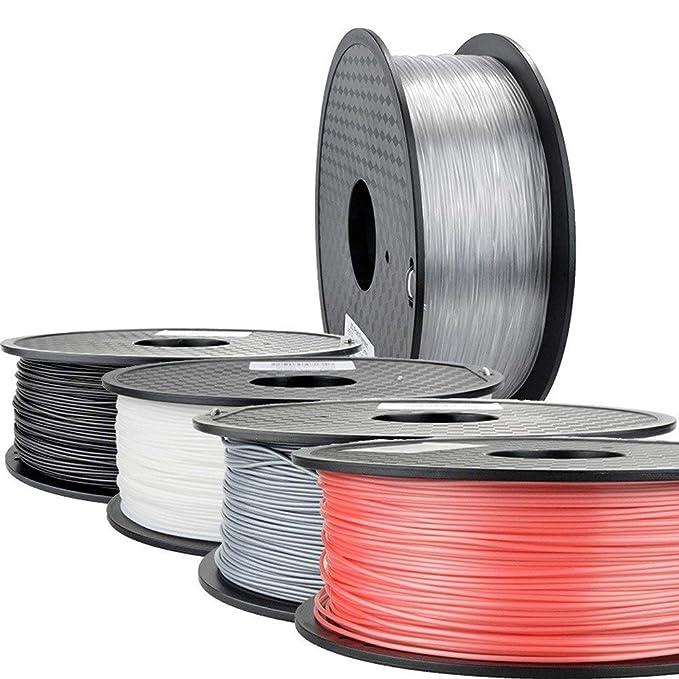 ZNNEUR 6pcs 3D Haces de filamentos de Impresora 1.75 PLA PETG de ...