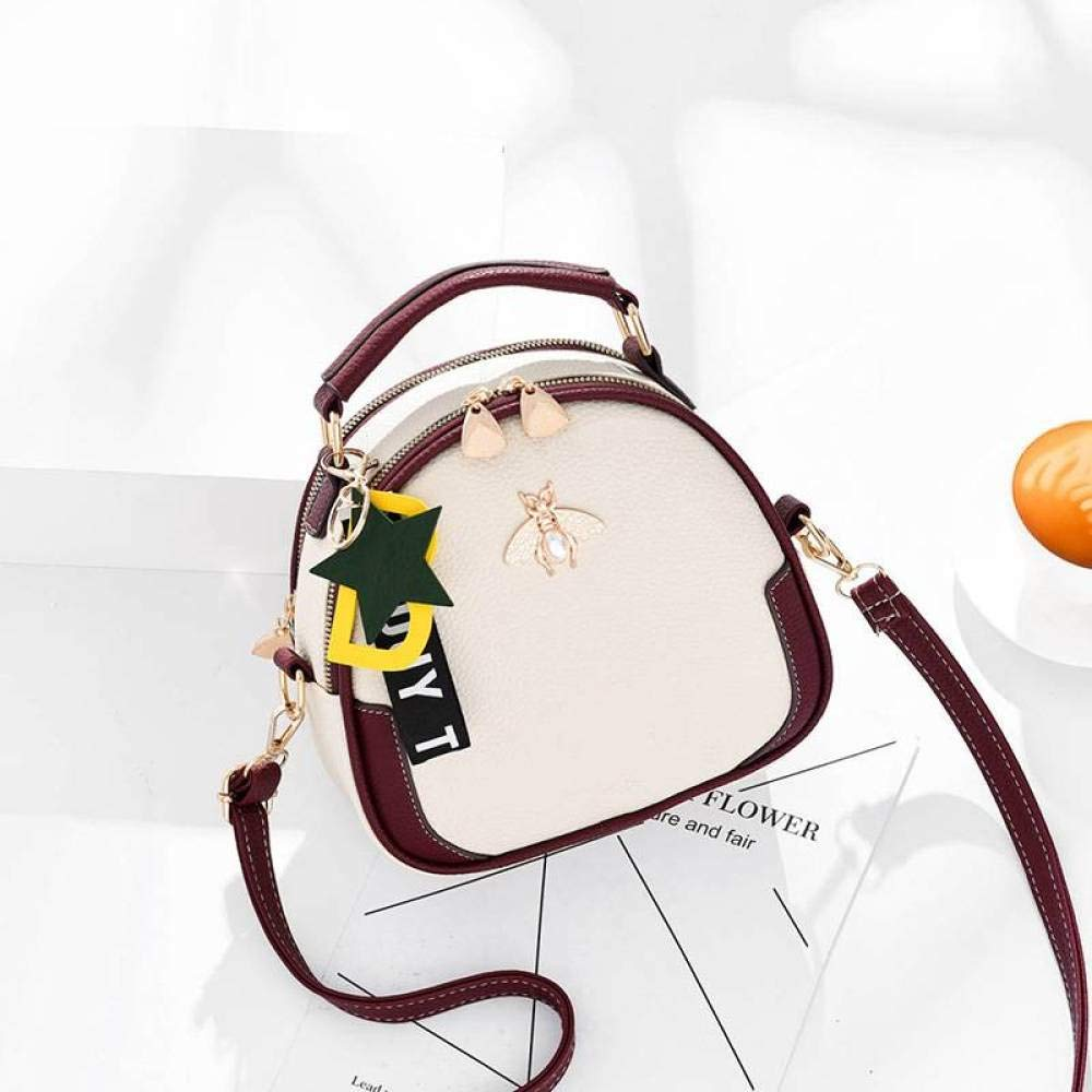 Xingkaijixie Womens Shoulder Satchel Bag Small Honey Backpack Summer Fashion Personality Shoulder Messenger Bag Female Color : White, Size : One Size