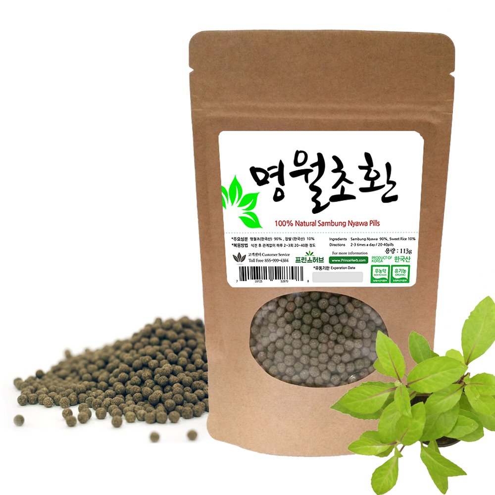 [Medicinal Korean Herbal Pills] 100% Sambung Nyawa ( Ashitaba / Mingreye ) Pills / 명월초 환 4oz ( 113g )