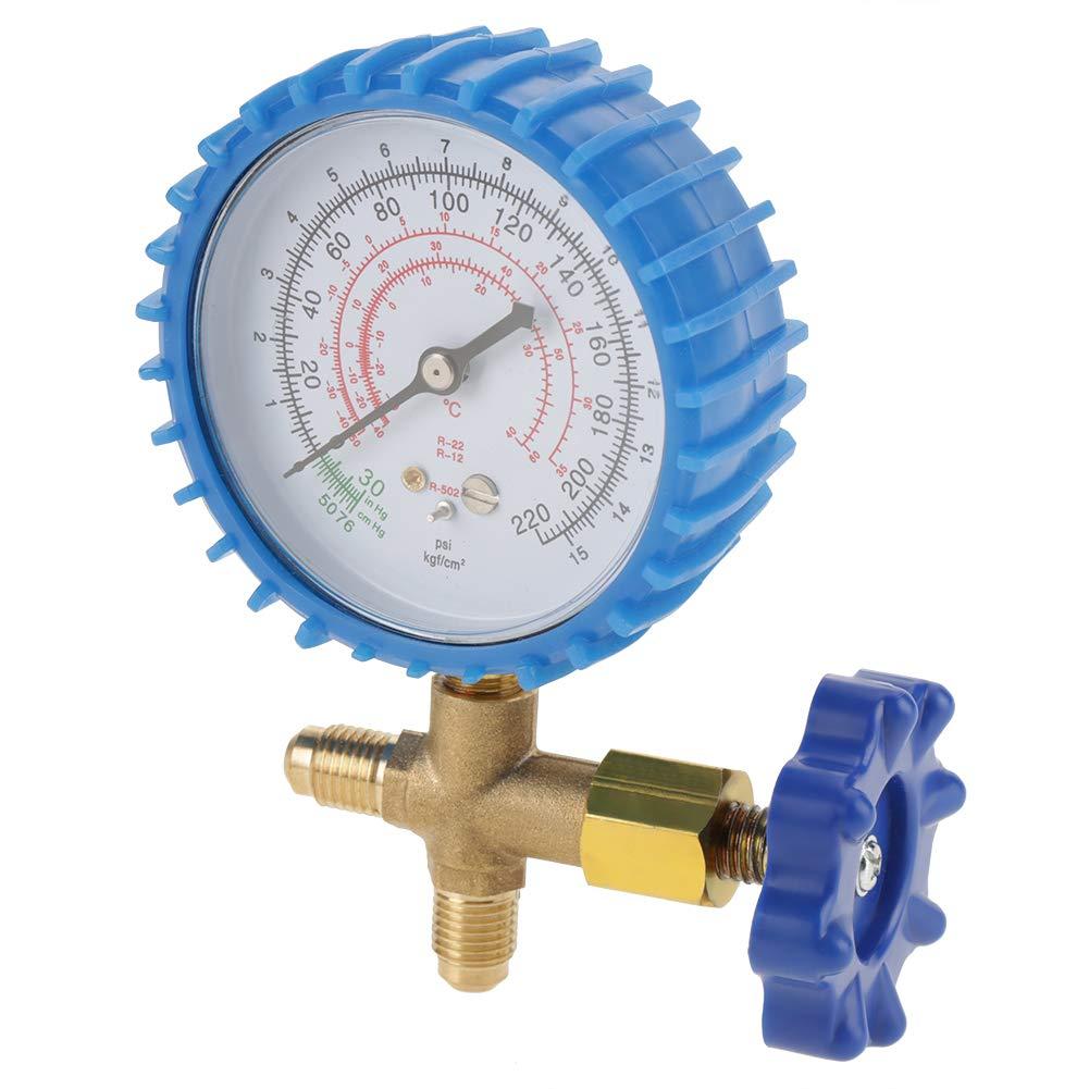 manom/ètre de jauge de pression de recharge de r/éfrig/érant durable de climatisation adapt/é pour R410A R22 R134A R404A pour le raccordement de fr/éon Manom/ètre de climatisation