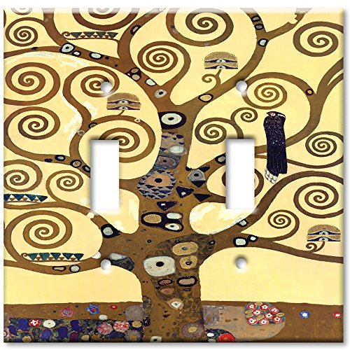 Art Plates - Klimt: The Tree of Life Switch Plate - Double T