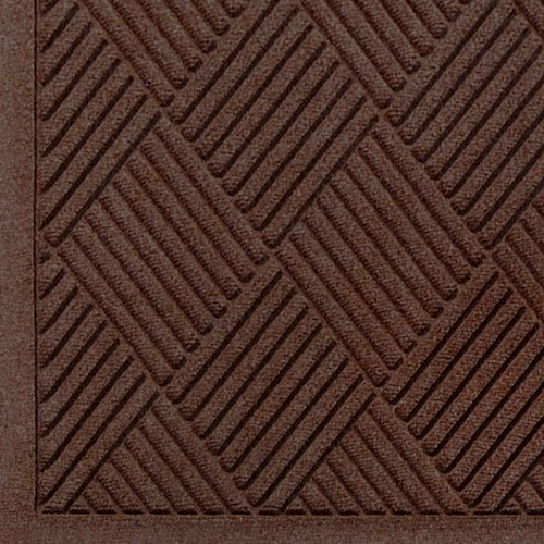 Andersen 221 Waterhog Fashion Diamond Polypropylene Fiber Entrance Indoor/Outdoor Floor Mat, SBR Rubber Backing, 5' Length x 3' Width, 3/8