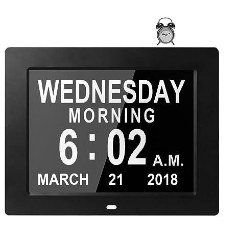 Calendario Durata Giorno Notte.Vefaii Digitale Calendario Orologio Giorno Elettronico Tavolo Orologio Sveglia Per La Perdita Di Memoria Anziani Demenza Morbo Di Alzheimer Disturbi
