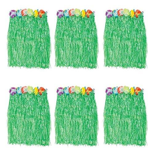 Generic Kid's Flowered Green Luau Hula Skirts Pack of (Hula Skirts Bulk)