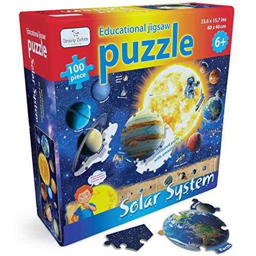 Educational Solar System Puzzle – 100 pcs Outer Space Themed Jigsaw For Kids
