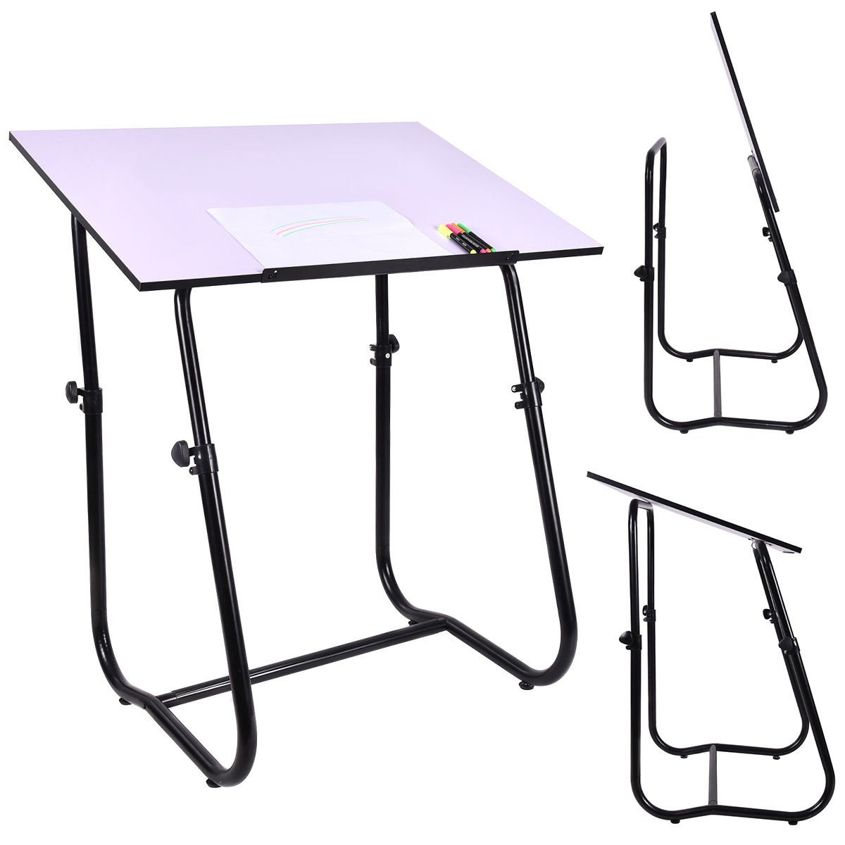 New MTN-G Drawing Desk Drafting Table Adjustable Art Craft Workstation Hobby White