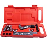 """Wostore Double Flaring Tool Kit for 3/16""""-5/8"""" 7 Dies Automotive Line Tubing Cutter with Replacement Blade and Remear"""