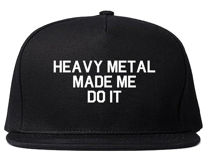 Amazon.com  FASHIONISGREAT Heavy Metal Made Me Do It Snapback Hat ... 1886a0903ad6