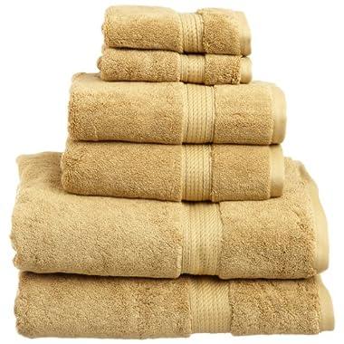 Superior 900 Gram 100% Premium Long-Staple Combed Cotton 6-Piece Towel Set, Toast