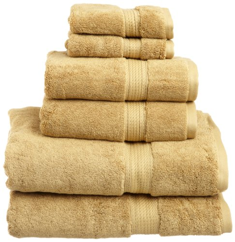 Superior 900 GSM Luxury Bathroom 6-Piece Towel Set, Made of 100% Premium Long-Staple Combed Cotton, 2 Hotel & Spa Quality Washcloths, 2 Hand Towels, and 2 Bath Towels - Toast