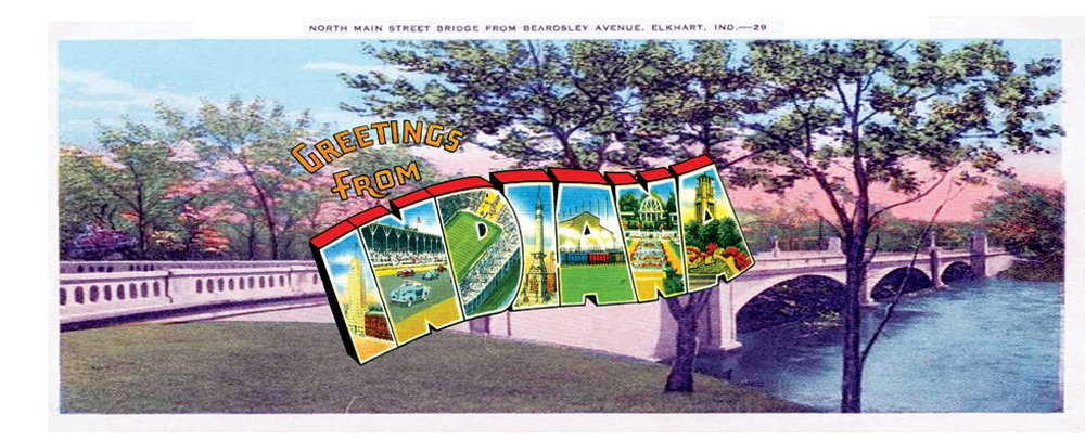 Travel - Indiana Postcard Sport Silver Lamp by Lamp-In-A-Box (Image #2)