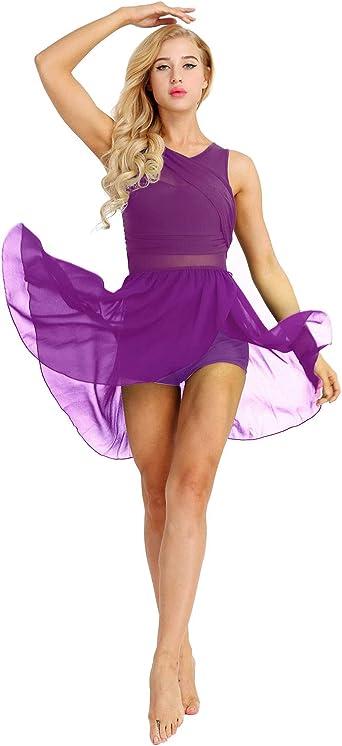 Freebily Vestido Maillot de Tul para Danza Ballet Gimnasia ...