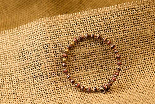 Paper Bead East African Bangle - Dark Earthtone - Fair Trade BeadforLife Jewelry ()