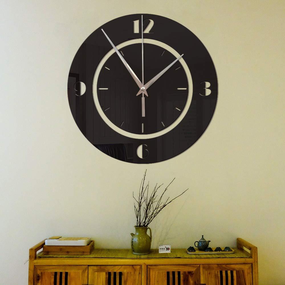 Amazon.com: 3D DIY Wall Clock Modern Design Saat Reloj De Pared Metal Art Clock Living Room Acrylic Mirror Watch Horloge Murale 106 Gold: Home & Kitchen