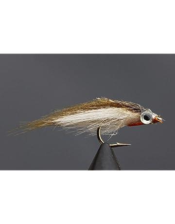 Tigofly 12 St/ück Braun Olive UV Polar Fry langsam sinkend Lachs Forelle Stahlkopf Minnow Fliegenfischen Fliegen K/öder Fliegen-Set Gr/ö/ße #8