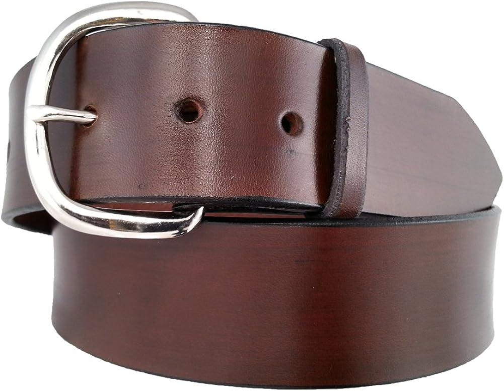 Santa Fe Leather Co Mens 700 belt full-grain Bridle Leather