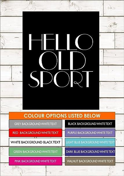 Hello Old Sport Great Gatsby Quote F Scott Fitzgerald A1 84cm
