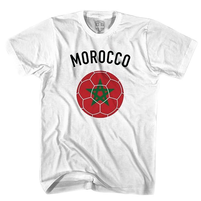 Marruecos balón de fútbol camiseta blanco blanco XL