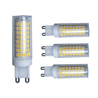 Bombilla LED G9 de 5 W regulable, luz blanca cálida, 40 W, 50 W, 60 W, ...