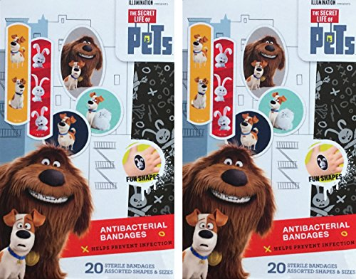 The Secret Life Of Pets Children's Antibacterial Bandages Pack Of 2