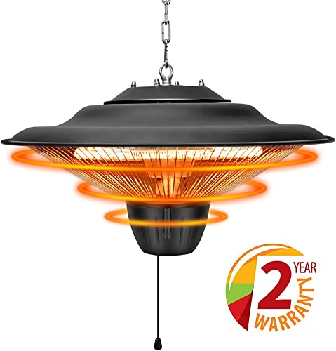 Patio Heater – Outdoor Heater, 1500W, Ceiling Mounted, Waterproof, Outdoor or Indoor Use, Ideal for Balcony, TRUSTECH Electric Heater