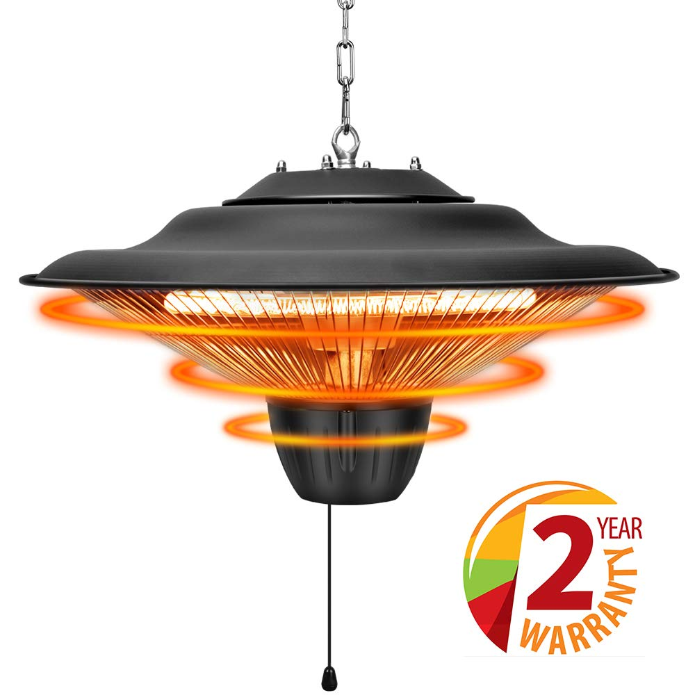 TRUSTECH Patio Heater - Outdoor Heater, 1500W, Ceiling Mounted, Waterproof, Outdoor or Indoor Use, Ideal for Balcony, Electric Heater by TRUSTECH