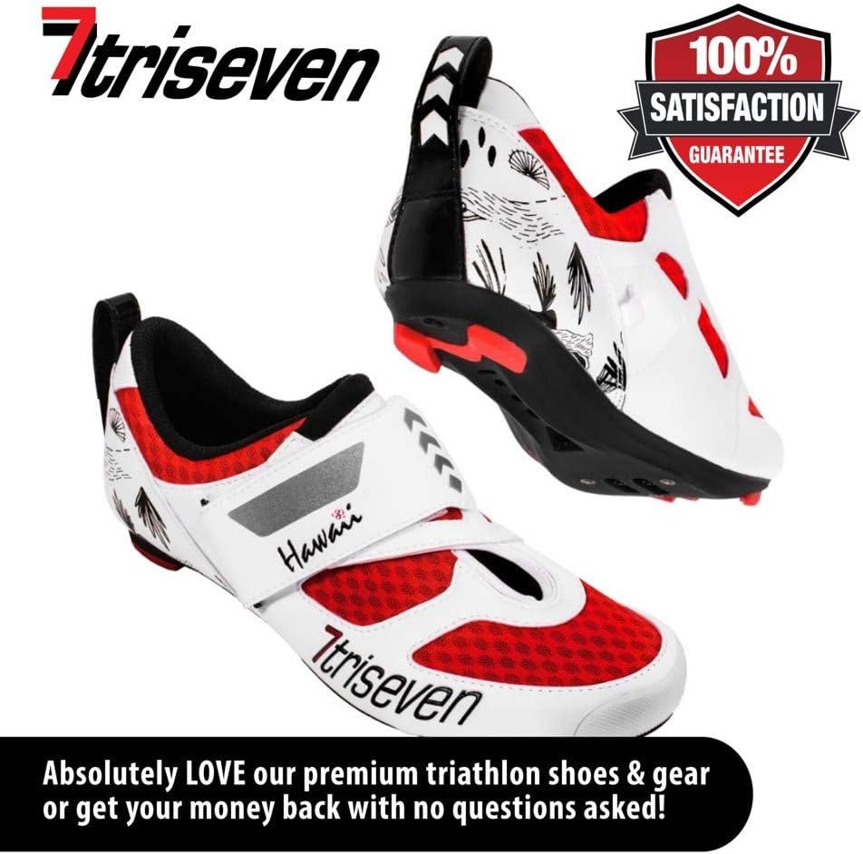 TriSeven Premium Triathlon Bicicleta Guantes – Ultra Ligero ...