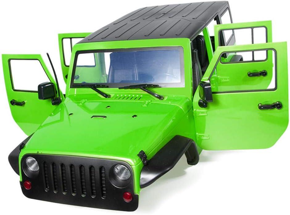 BeesClover Carrocería de coche sin montar de 313 mm con distancia entre ejes para 1/10 RC Crawler Axi-al SCX11 SCX10 90046 90047 JE-EP Wrangler verde ...