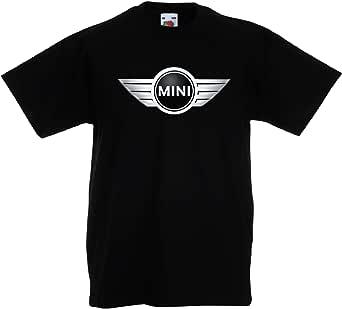 Mini Cooper Logo Camiseta Mejores Impresión Camisa Niño Coche Negro Blanco Rojo Azul Gris Manga Corta Regalo Cuello Redondo Verano T-Shirts Shirt Regalo