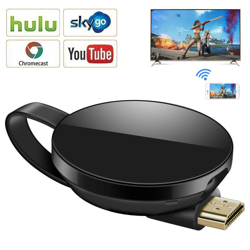 Wireless Display Dongle,WiFi Portable Display Adapter TV Projector,1080P HDMI Digital TV Receiver, Support Airplay DLNA Miracast, Compatible with iOS/Android Smartphones/Windows/Pixel/Nexus/Mac/Laptop by LIAOINTEC